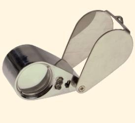 Лупа 21007 (20*21) с подсветкой в футляре