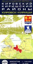Карта Кировский Киришский районы Ленинградская область
