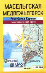 Карта Карелия Медвежьегорск Масельгская