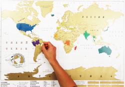 """Карта мира-скретч (со стирающимся слоем) -""""карта твоих путешествий"""""""