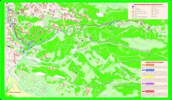 Карта схема парка Кисловодска с терренкурами