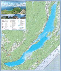 Настенная карта озера Байкал