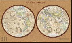 Карта мира стиль ретро