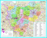 Карта Смоленская область (настенная, ламинированная)