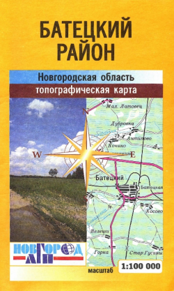 Карта Батецкий район Новгородская область