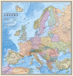 Карта Зарубежная Европа политическая настенная