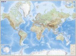 Карта Мира обзорная настенная