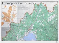 Карта Новгородская область общегеографическая (на 4х листах)
