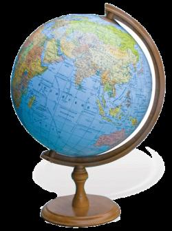 Глобус физический на деревянной подставке