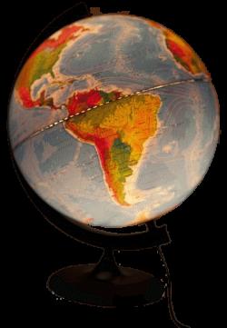 Глобус двойная карта на пластиковой подставке с подсветкой