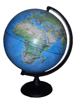 Глобус физический на пластиковой подставке с подсветкой