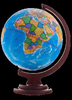 Глобус политический на деревянной подставке