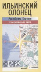 Карта Карелия Ильинский Олонец