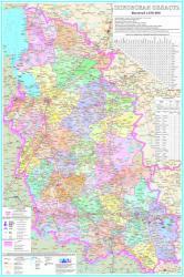 Карта Псковская область настенная