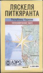 Карта Карелия Ляскеля-Питкяранта