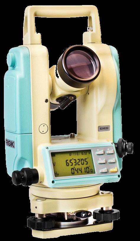 Теодолит электронный RGK  Т-02 + лазер ЦУ