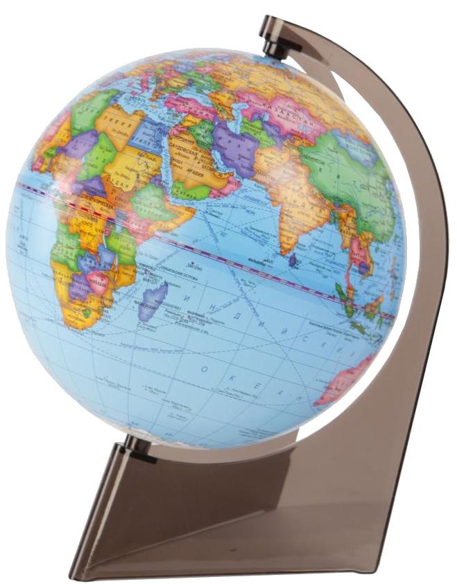 Глобус политический с подсветкой на треугольной подставке