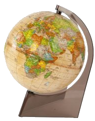 Глобус политический ретро на треугольной подставке D 150мм