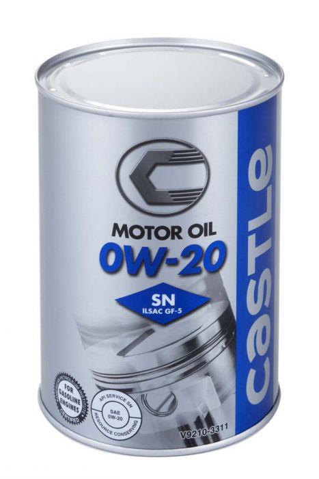 Масло моторное Castle Motor Oil 0W20 SN, 1литр