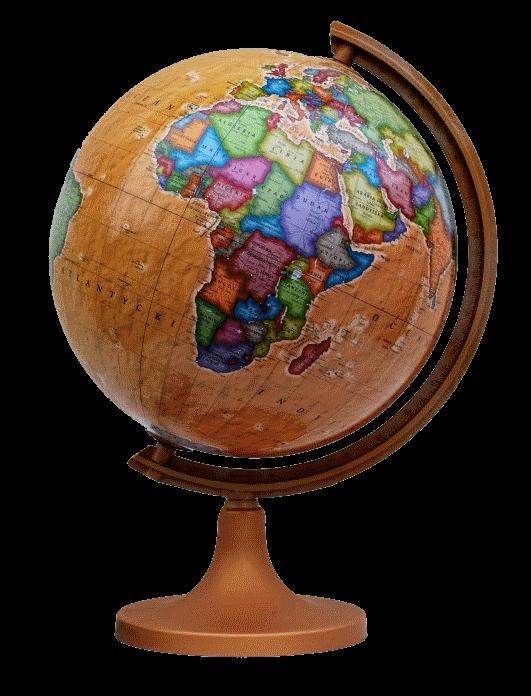 Глобус политический на пластиковой подставке ретро стиль