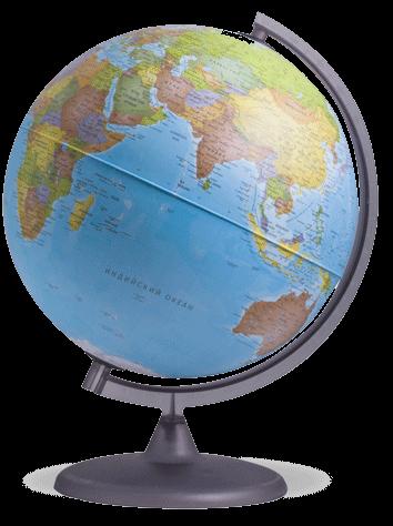 Глобус политический на пластиковой подставке с подсветкой